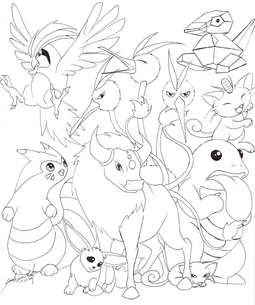 Displaying  Images For Pokemon Eevee Evolutions Coloring Pages Within Pokemon  Coloring Pages Eevee Evolutions