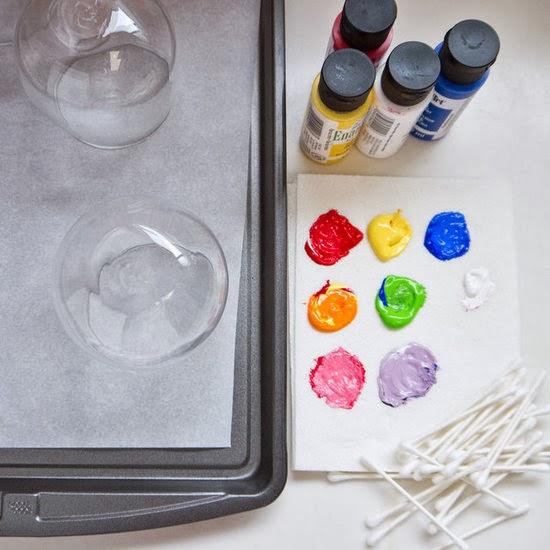 Copos coloridos - materiais
