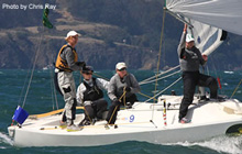 J/22s sailing women match racing- Genny Tulloch