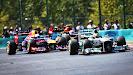 Hamilton (Mercedes), Vettel (Red Bull) & Grosjean (Lotus)