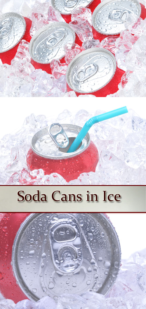 Stock Photo: Soda Cans in Ice
