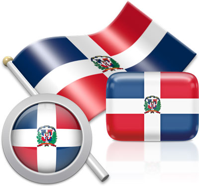 Dominican flag icons pictures collection