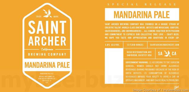 Saint Archer White Ale, Mandarin Pale