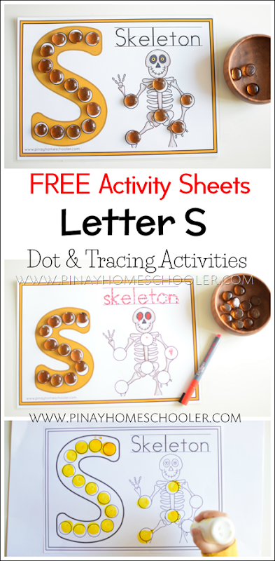 FREE Letter S Dot and Tracing Activity Sheets