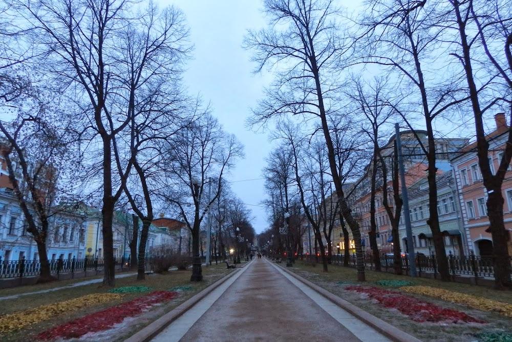 wintery park near Trubnaya