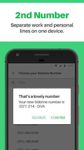 Sideline - Second Phone Number - Work or Personal download 2