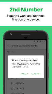 Sideline - Get a Second Number for a Business Line Screenshot