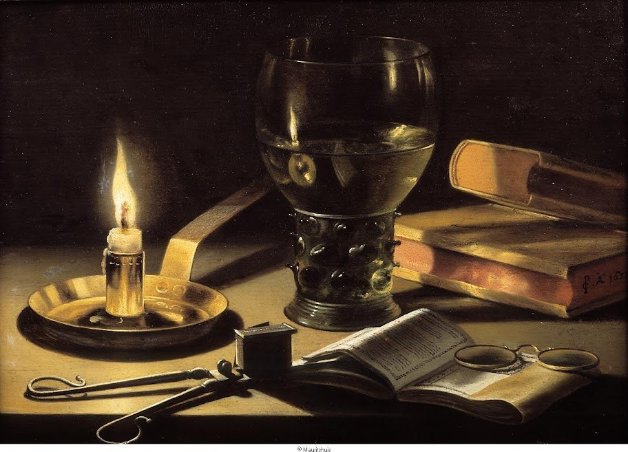 Pieter Claesz - Still life with a burning candle