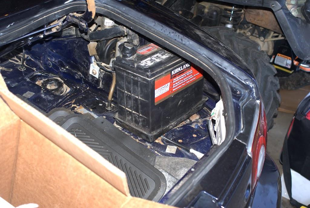 Car Battery Fluid Spilled