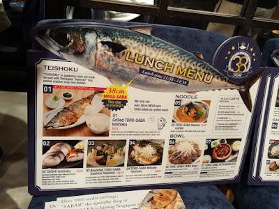 Sabar's menu.