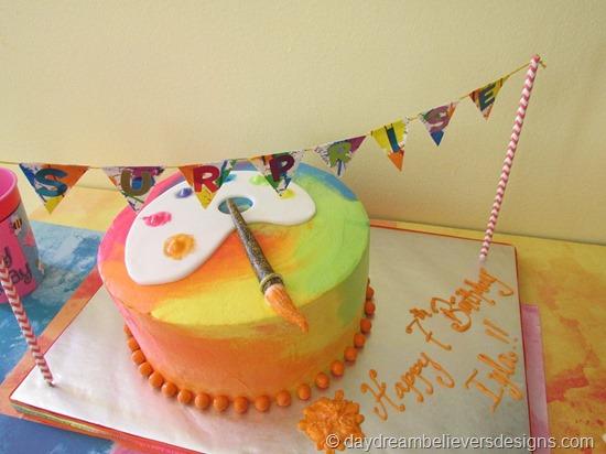 DIY Art Party at Home - Art Cake