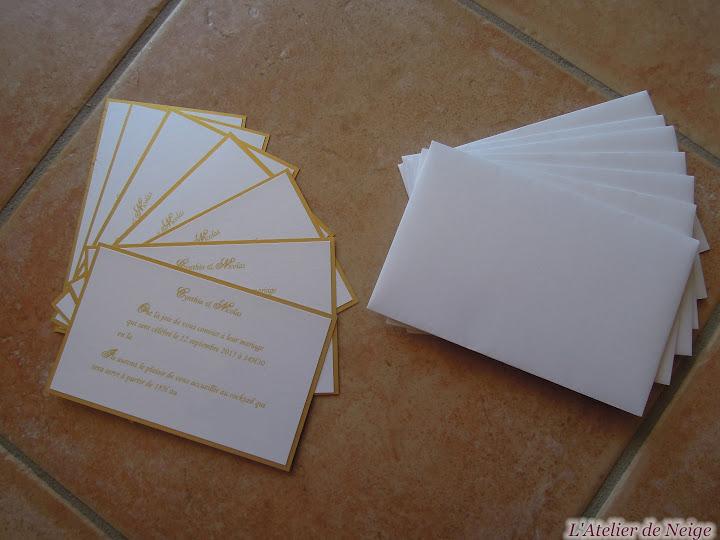 177 - Invitation Mariage  Cynthia et Nicolas 12 sept. 2015