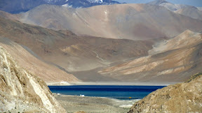 Pangong Tso from the distance