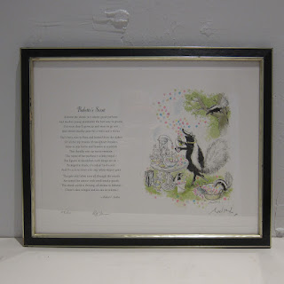 Ronald Searle X Robert Forbes Illustrated Poetry Lithograph - Babette's Scent