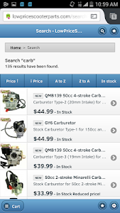 Low Price Scooter Parts screenshot 4