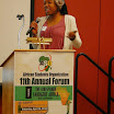 Natasha Wilkins, Senior, speaks at the ASO Annual Forum, 2014, about her study abroad trip to Sierra Leone