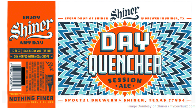 Shiner Adding NEW Day Quencher Session Ale Cans & Bottles