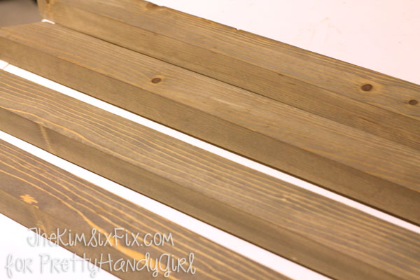Stained board for West Elm Frame