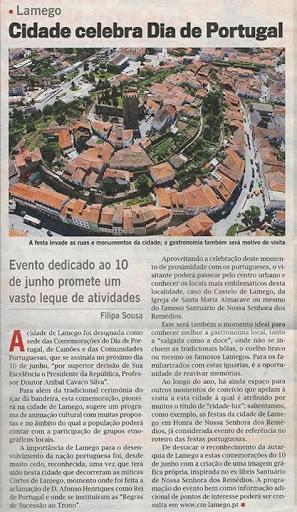 Comemorações do dia de Portugal em Lamego são notícia no Jornal do LIDL
