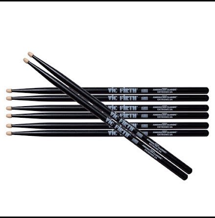 Vic Firth Svarta Extreme 5A - 4-pack!