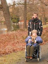 Photo: 07. 01. 2012 roku  - z Marcinem w parku przy Hali Stulecia