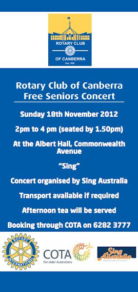 seniors concert