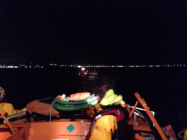 View from the ALB as the ILB tows the motorboat alongside - 18 November 2015.  Photo credit: Alex Evans
