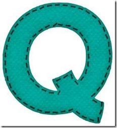 q letras verdes