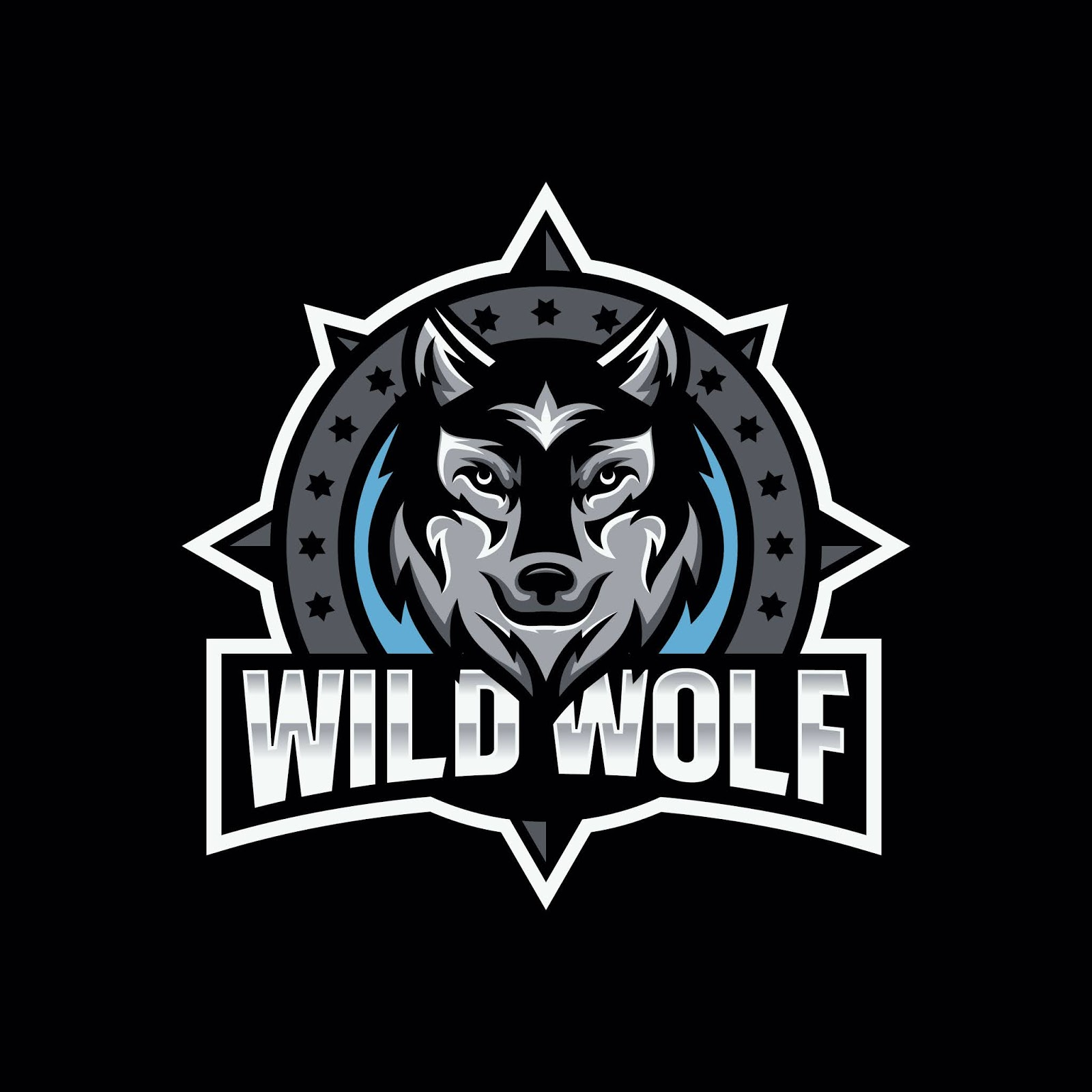 Wild Wolf Esport Mascot Logo Design Free Download Vector CDR, AI, EPS and PNG Formats