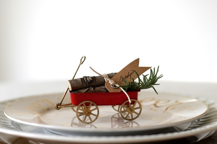 Vintage Wagon & Log Place Cards by homework (carolynshomework (1)