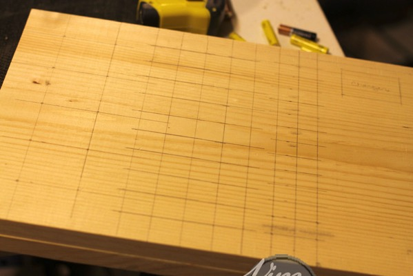 Marking spacing to drill holes
