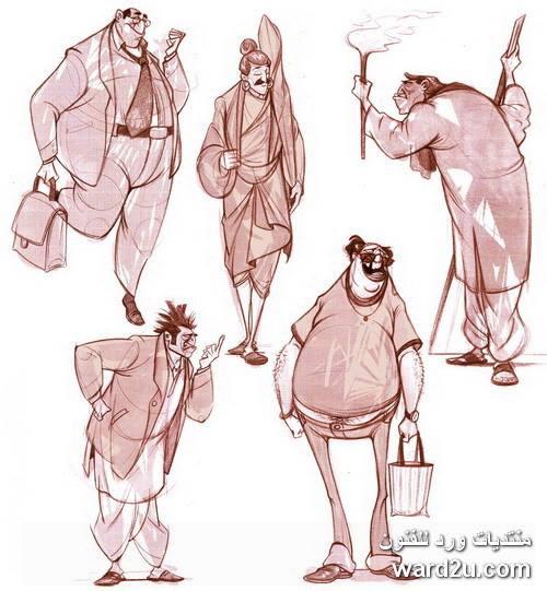 اسكتشات كاركاتير تعليميه للفنان الهندى dattaraj kamat
