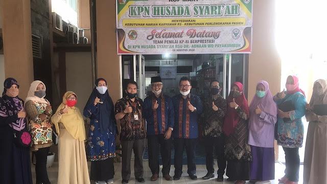 KPN Husada Syariah Payakumbuh Kedatangan Tim Penilai Koperasi Terbaik se Sumbar.
