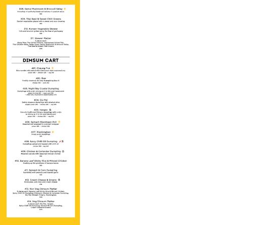 Chi Asian Cookhouse menu 5