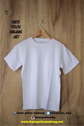 kaos polos cowok putih malang