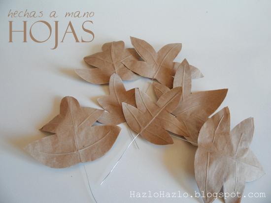 Cómo hacer hojas secas para decorar en otoño.