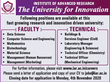 IAR Biotech Faculty/Lab Manager Job Openings
