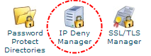 Tombol IP Deny Manager