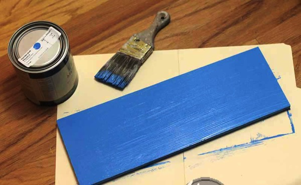 Painting board with PPG Electric Blue
