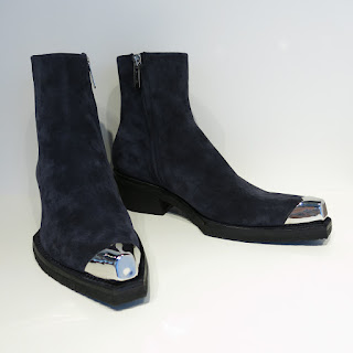 Calvin Klein 205W39NYC  Navy Suede Ankle Boots