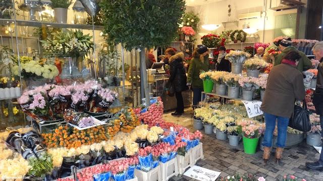 flowermarket in copenhagen in Copenhagen, Copenhagen, Denmark