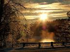 Solnedgång i Flötemarken