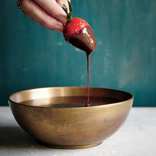 Easy Chocolate-Bourbon Fondue.