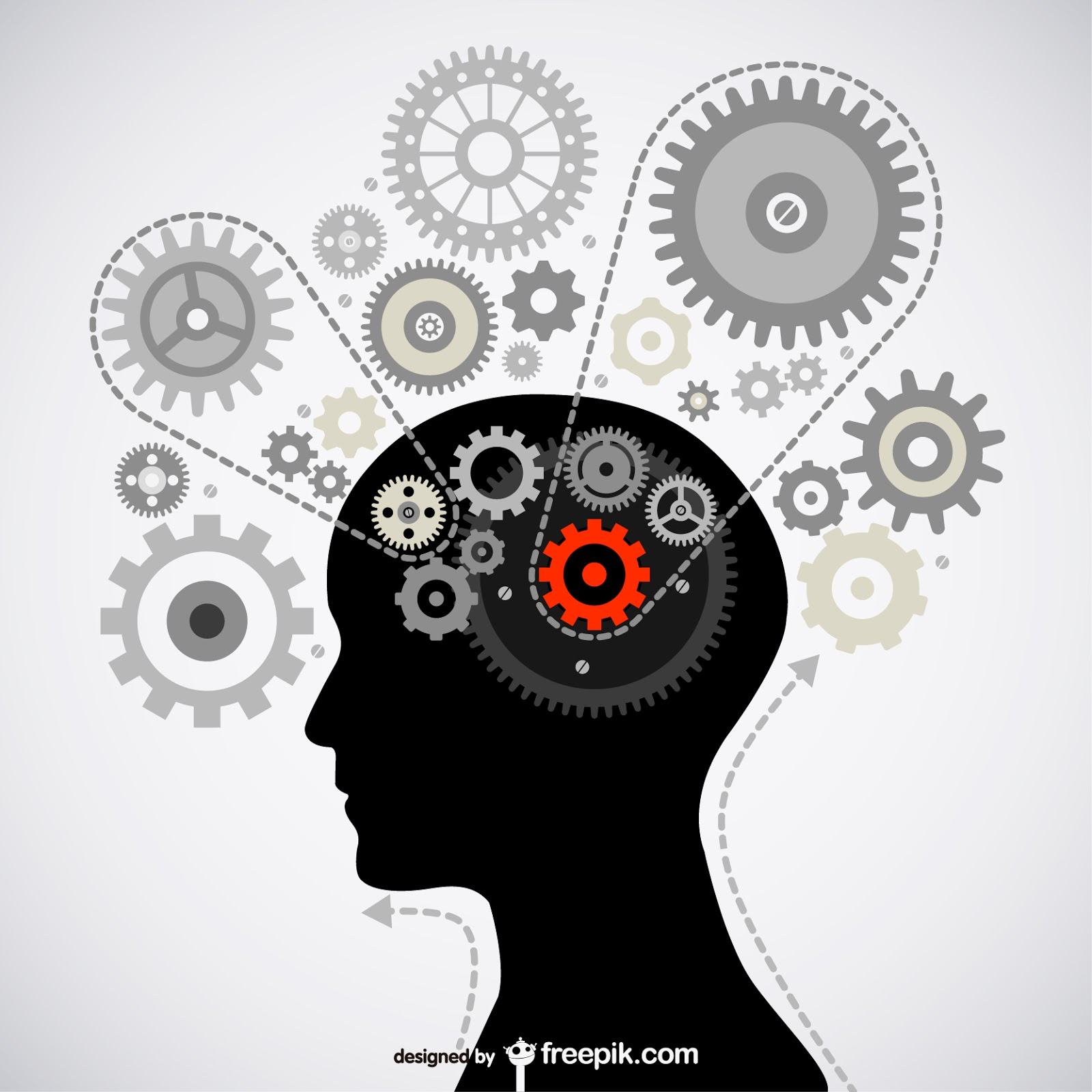 Brain Gear Vector	 Free Download Vector CDR, AI, EPS and PNG Formats