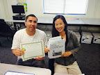Alfredo de la Rosa, Oak Grove Student Highlight August 2014 with teacher Iwei Yun