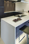 Polished Divinity White kitchen worktops