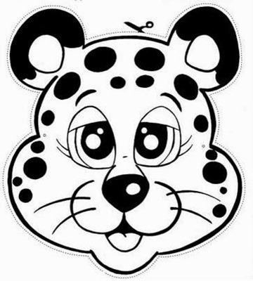 LEOPARDO mascara de animales  para colorar (72)_thumb