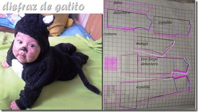 patrones disfraz de gatito