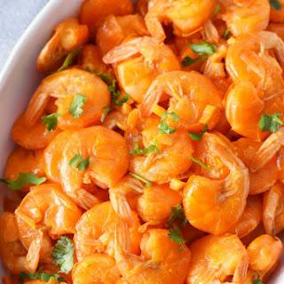 Portuguese Shrimp Mozambique with Rice.