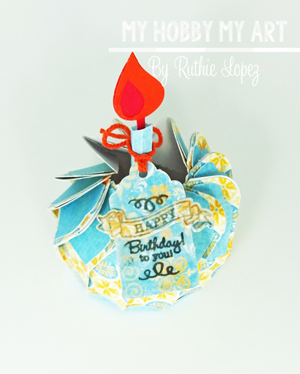 Cupcake 3d Biscuit Box, SnapDragon Snippets, Ruthie Lopez, Blog Hop, Hilda's Birthday, cupcake, .2